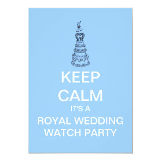 KEEP CALM Royal Wedding Party Invite (light blue)