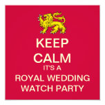 KEEP CALM Royal Wedding Party Invite (Lion)