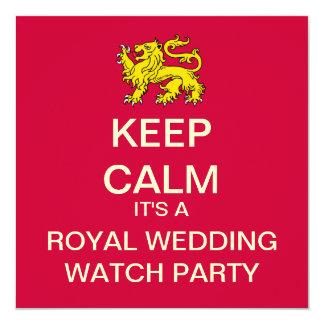 KEEP CALM Royal Wedding Party Invite (Lion)