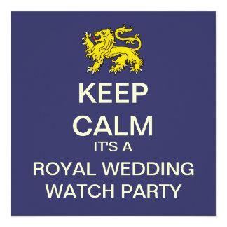 KEEP CALM Royal Wedding Party Invite (Lion - Blue)