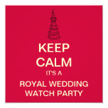 KEEP CALM Royal Wedding Party Invite (Square)