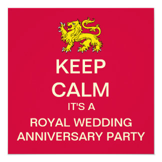 KEEP CALM Royal Wedding Re-Watch Party Invitation