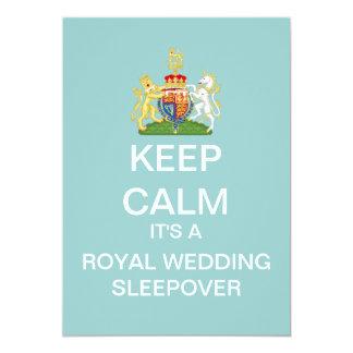 KEEP CALM Royal Wedding Sleepover Invitation