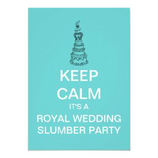 KEEP CALM Royal Wedding Slumber Party Invite