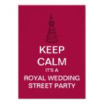 KEEP CALM Royal Wedding Street Party Invitation
