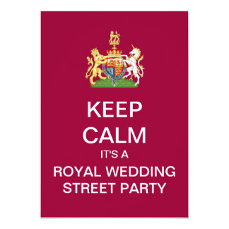 KEEP CALM Royal Wedding Street Party Invite
