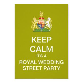 KEEP CALM Royal Wedding Street Party Invite (Mod)