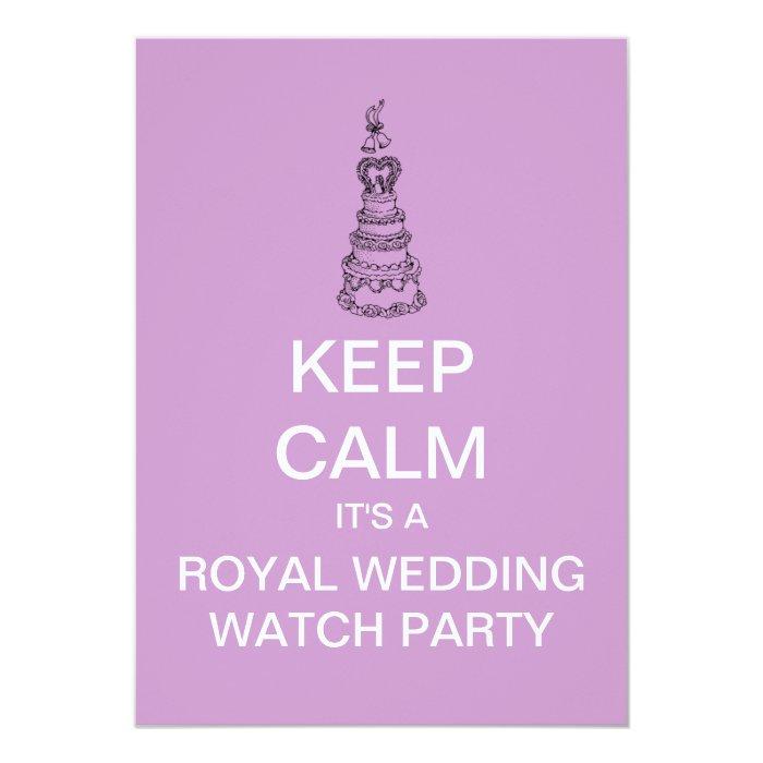 KEEP CALM Royal Wedding Watch Party Invitation