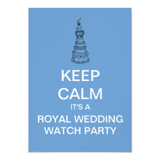 KEEP CALM Royal Wedding Watch Party Invite (Blue)