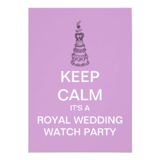 KEEP CALM Royal Wedding Watch Party Invite (Pink)