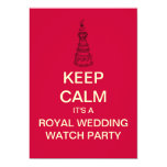 KEEP CALM Royal Wedding Watch Party Invite (Red)