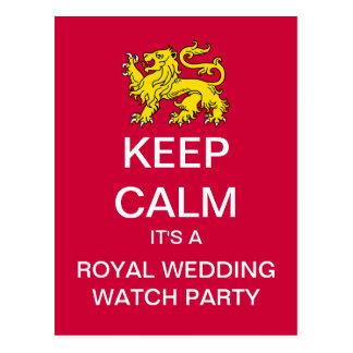 KEEP CALM Royal Wedding Watch Party Postcard