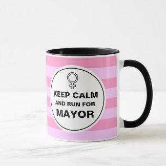 Keep Calm Run for Mayor Mug
