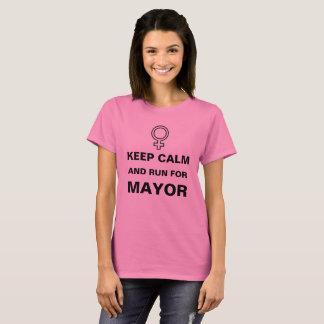 Keep Calm Run for Mayor T-Shirt