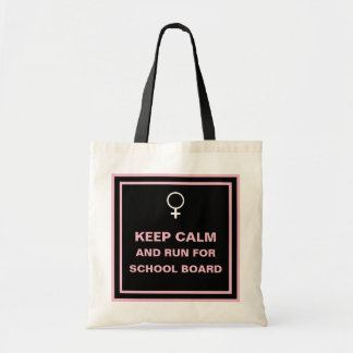 Keep Calm Run for School Board Tote Bag