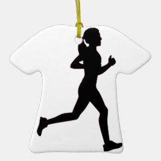 Keep calm & run on ceramic T-Shirt decoration
