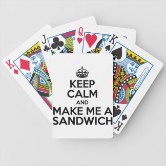 Keep Calm Sandwich Bicycle Playing Cards