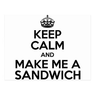 Keep Calm Sandwich Postcard