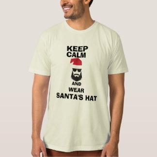 Keep calm Santas Hat customizable texts Shirt