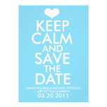 Keep Calm & Save the Date Announcements