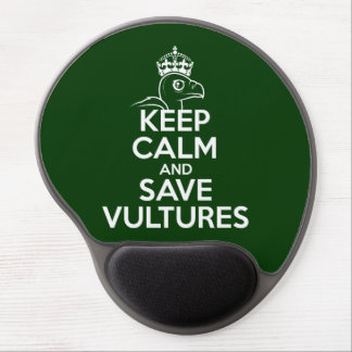 Keep Calm & Save Vultures Gel Mouse Pads