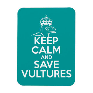 Keep Calm & Save Vultures Rectangle Magnets