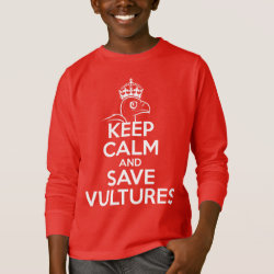 Kids' Basic Long Sleeve T-Shirt with Keep Calm & Save Vultures design
