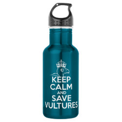 Water Bottle (24 oz) with Keep Calm & Save Vultures design