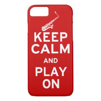 Keep Calm Saxophone iPhone 7 Case