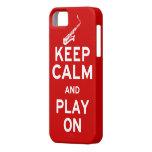 Keep Calm Saxophone iPhone SE/5/5s Case