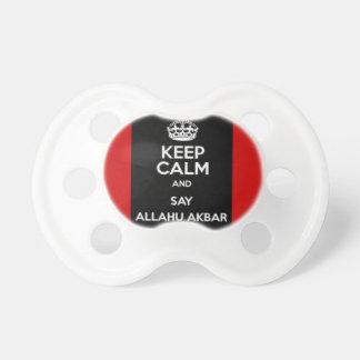 Keep Calm Say Allahu Akbar Pacifier