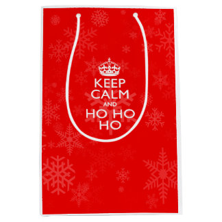 Keep Calm Saying for the Holidays Indeed Medium Gift Bag