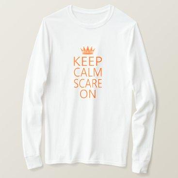 Halloween Themed Keep Calm Scare On Crown Unisex Tee