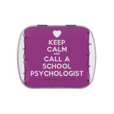 Keep Calm School Psychology Mints Jelly Belly Candy Tins at Zazzle
