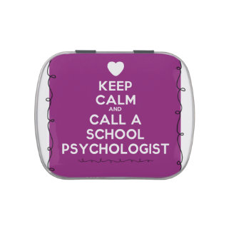 Keep Calm School Psychology Mints Jelly Belly Candy Tins