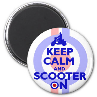 Keep Calm Scooter On (Blue) Magnet