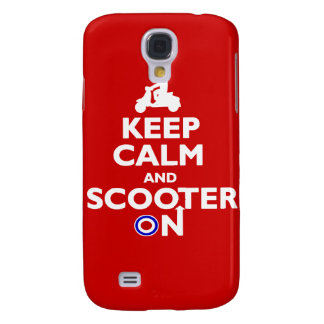 Keep calm scooter on iPhone case