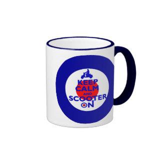 Keep Calm Scooter on Mod target Coffee Mugs
