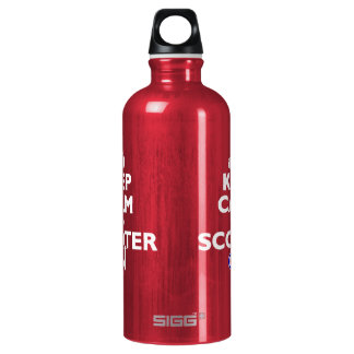 Keep Calm Scooter on Mod target Water Bottle