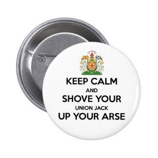 Keep Calm Scot Indy Badge Button