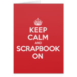 Keep Calm Scrapbook Greeting Note Card