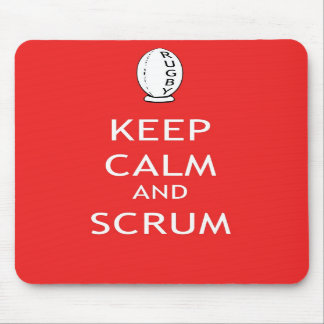 Keep Calm & Scrum Mouse Pads