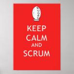 Keep Calm & Scrum Poster
