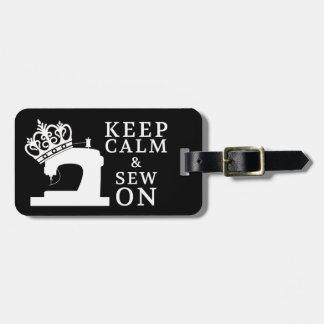 Keep Calm Sew On Crafts / Crown Logo {Dark} Bag Tag