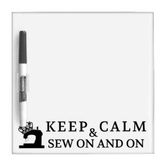 Keep Calm Sew On Dry-Erase Board