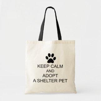 Keep Calm Shelter Pet Tote Bag