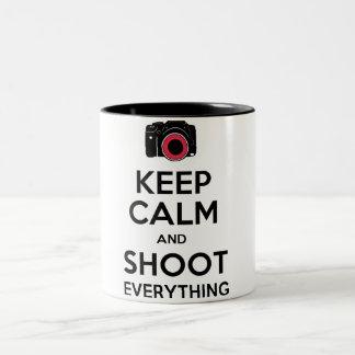 Keep Calm & Shoot Everything Photography Mug