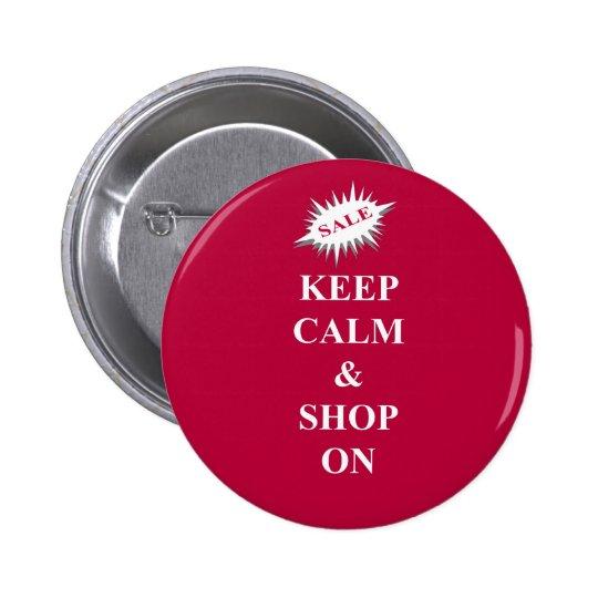 Keep calm & shop on button