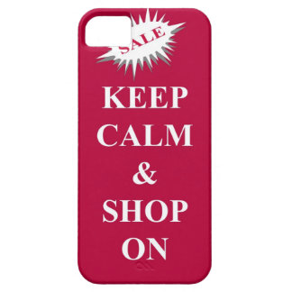 keep calm & shop on iPhone 5 cover