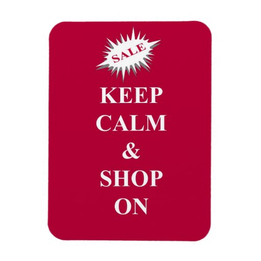 keep calm & shop on rectangular photo magnet